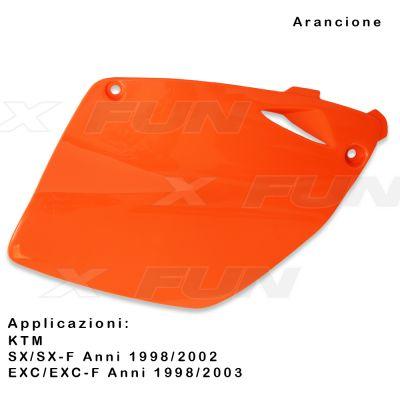 Tapas laterales portanumeros KTM SX/SX-F