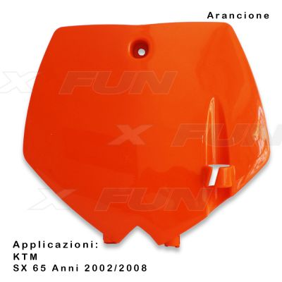 Front number plate KTM SX/SX-F